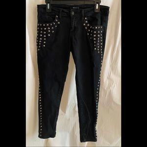 Studded black forever 21 skinny jeans